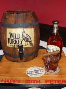 The Makery Cake Company Whiskey Barrel Cake