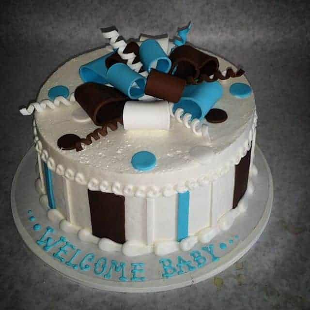 Baby Boy Baby Shower Package Cake