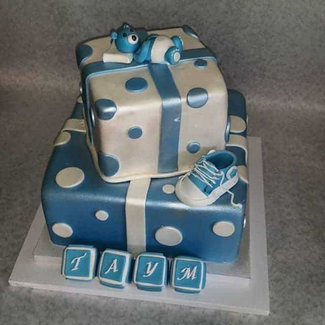 Baby Boy Package Tiered Cake