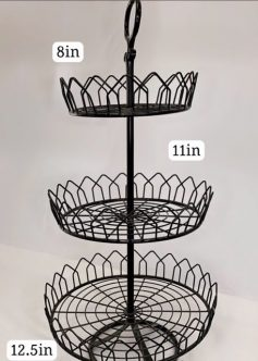 Black Basket Style Cupcake Stand