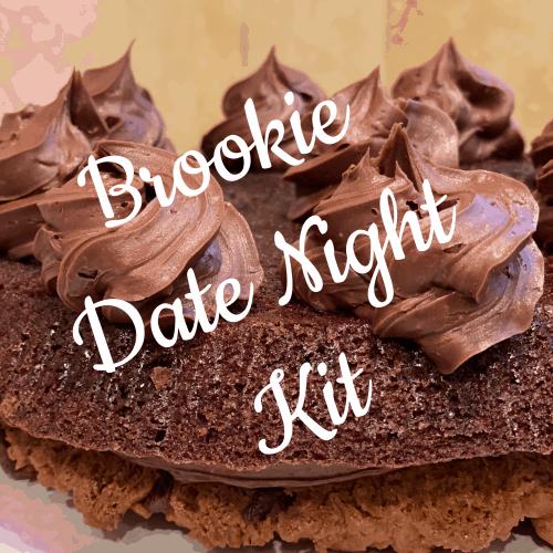 Brookie date night dessert kit