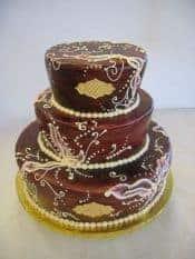 The Makery Cake Company Brush Embroidery Wedding Cake
