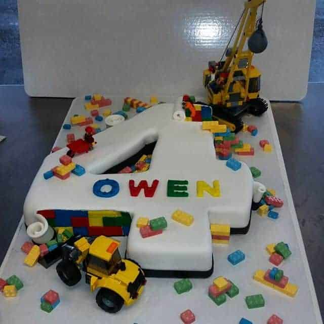The Makery Cake Company Building Blocks Number Cake