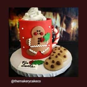 Christmas Mug of Hot Chololate Cake in Denver