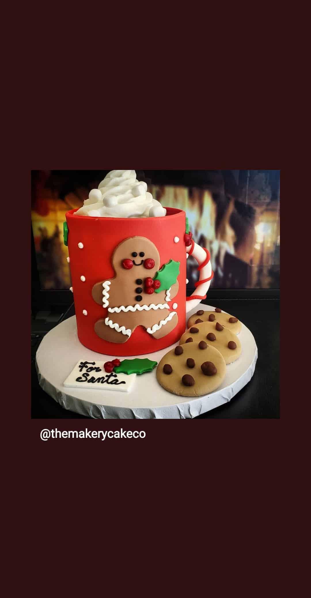Christmas Mug of Hot Chololate Cake in Denver