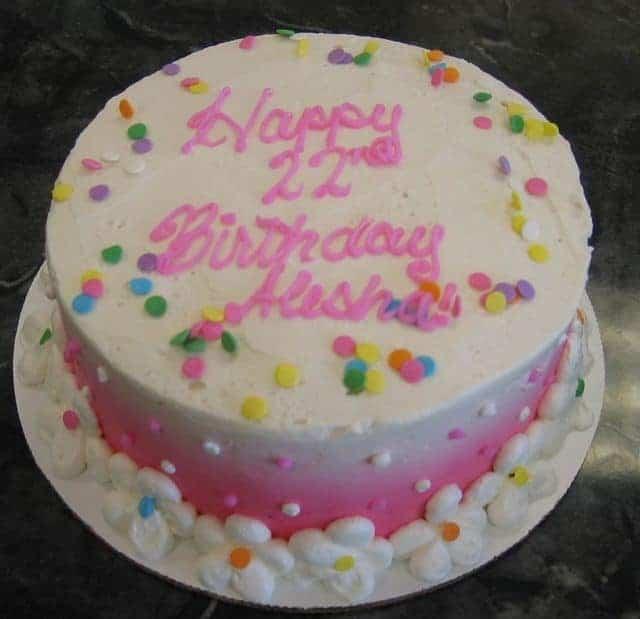 The Makery Cake Company Confetti Pink Ombre Cake