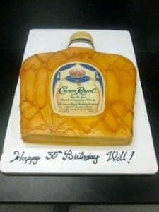 Crown Royal Shaped Cake