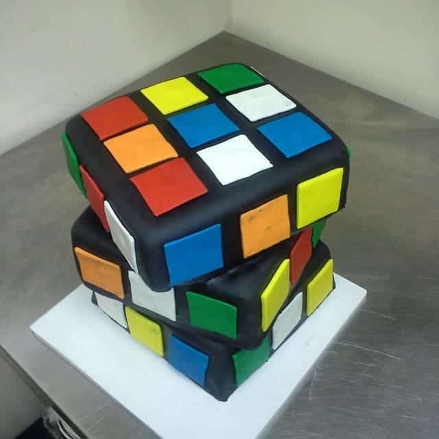 The Makery Cake Company Cube Puzzle Cake