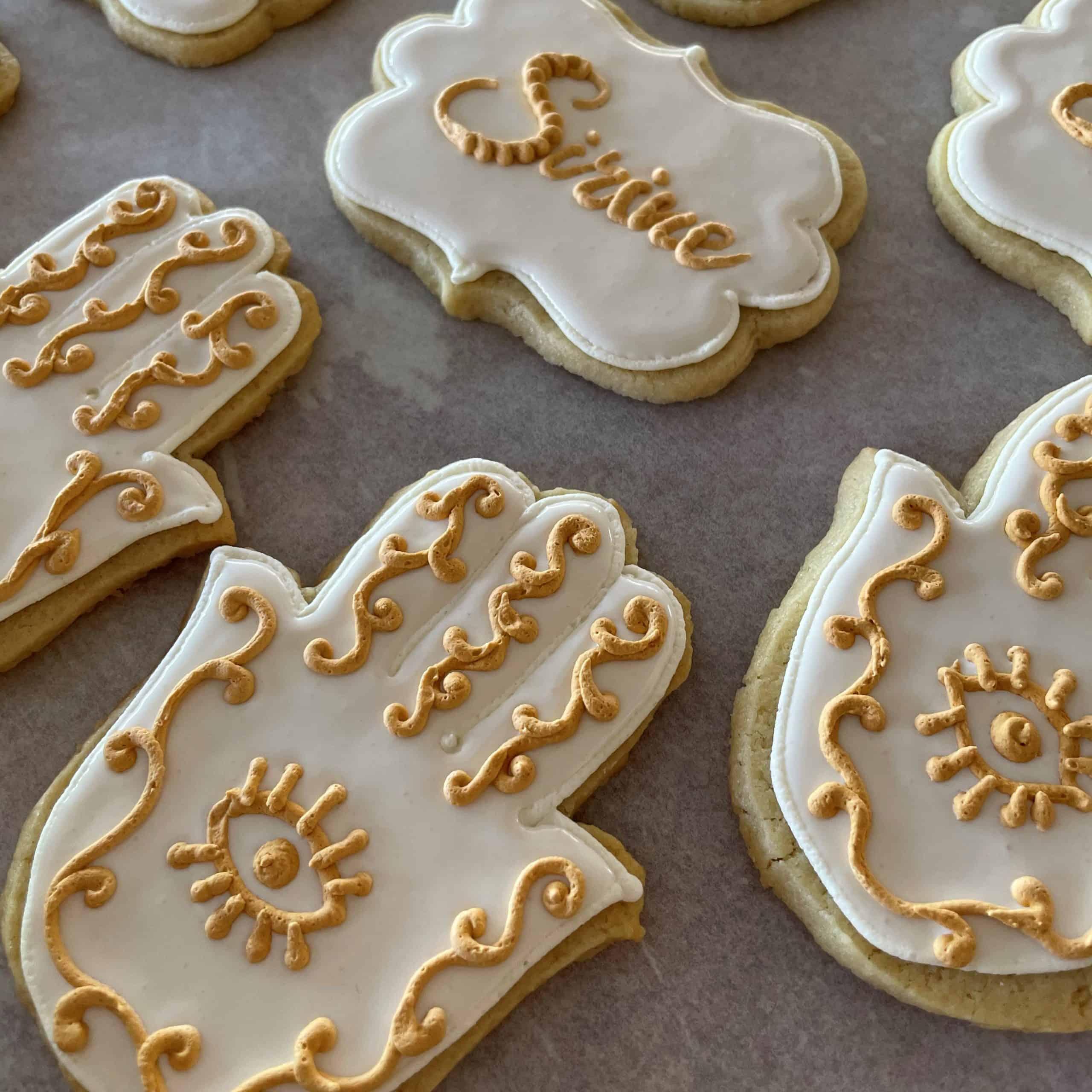 hand shaped sugar cookies