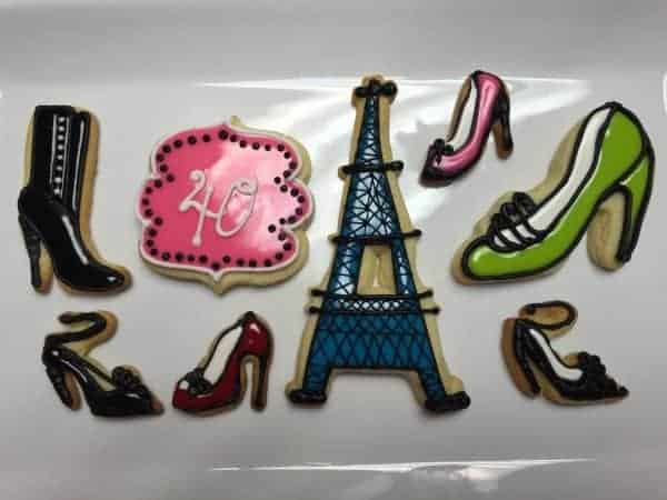 Decorated Sugar Cookies- Shoes and Paris Theme