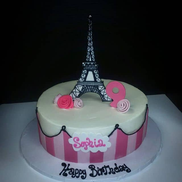 Eiffle Tower France Birthday Cake