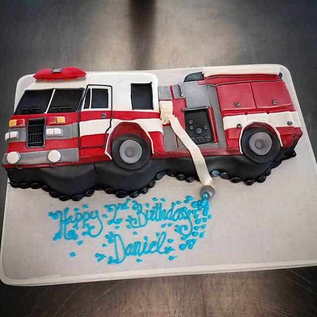 The Makery Cake Company Firetruch Cake