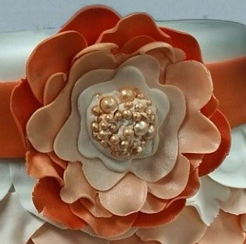 fondant and pearl flower