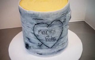 The Makery Cake Company Fondant Tree Trunk Cake