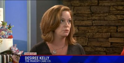 Desiree Kelly from The Makery Cake Co talking about Elegant wedding cakes in Denver