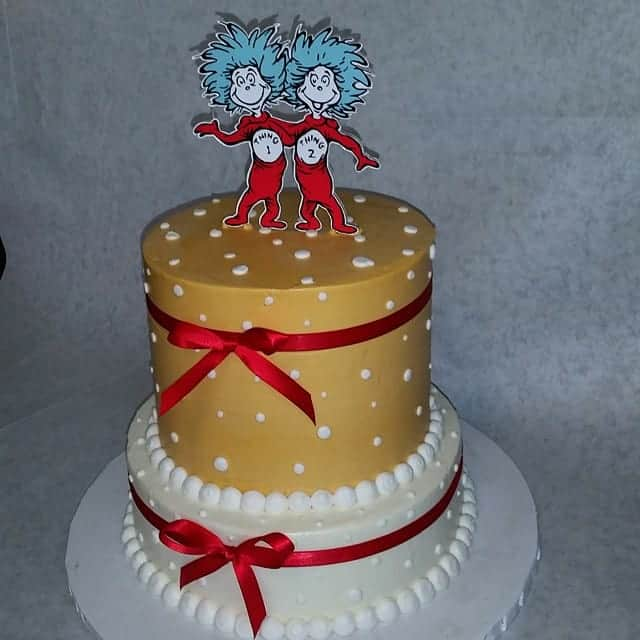 The Makery Cake Company Fun Engagement Cake