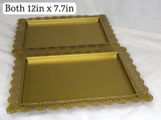 Gold Cupcake or Cake Trays
