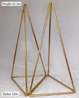 Gold Geometric Triangle Cake Stand