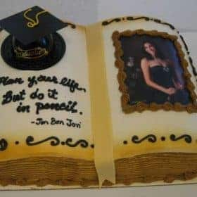The Makery Cake Company Graduation Book Cake