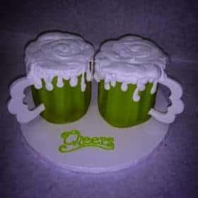 Green Beer Mug Cakes