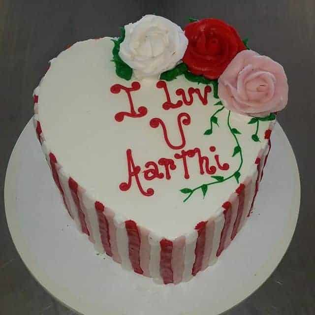 The Makery Cake Company Heart and Stripes Cake