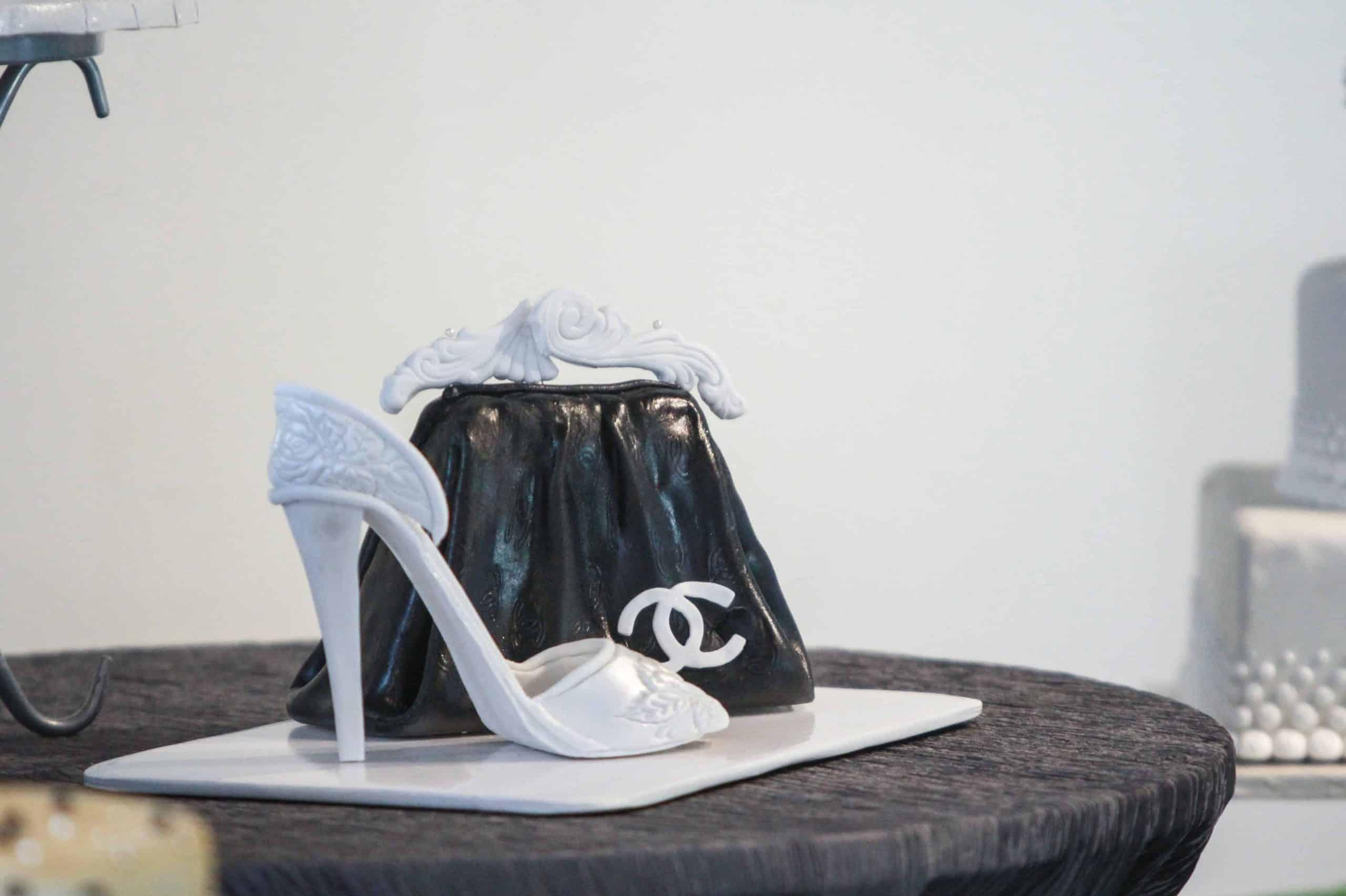 Heel and Bag Bridal Shower Cake