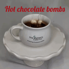 Cup with hot chocolate in it