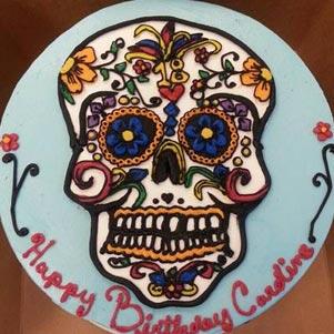 Halloween Skull Cake Denver