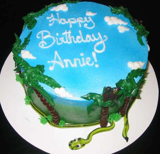 The Makery Cake Company Jungle Themed Cake with Buttercream Snake