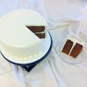 Cake cut with a slice