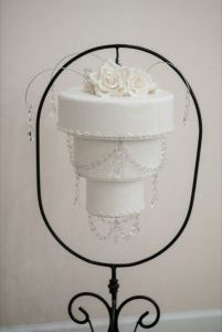 Chandelier cake and pendant crystals