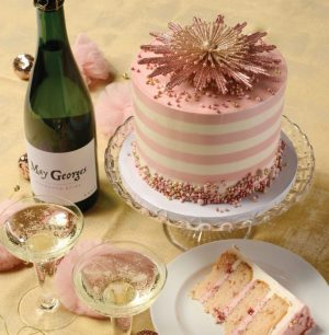 Avid Lifestyle pink champagne cake