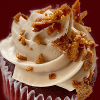Cupcake with bacon