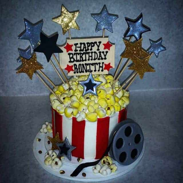 The Makery Cake Company Movie Popcorn Bucket Cake