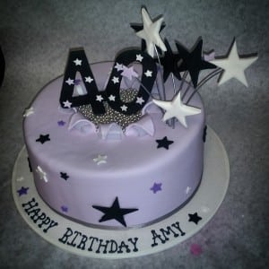 Super Number And Star Birthday Cake The Makery Cake Co Personalised Birthday Cards Veneteletsinfo