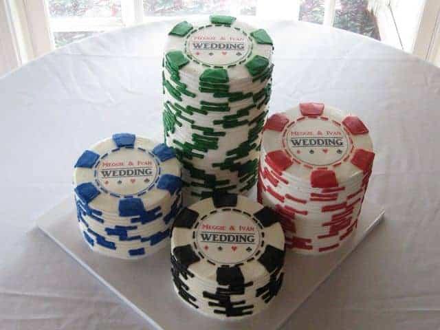 The Makery Cake Company Poker Chip Cake