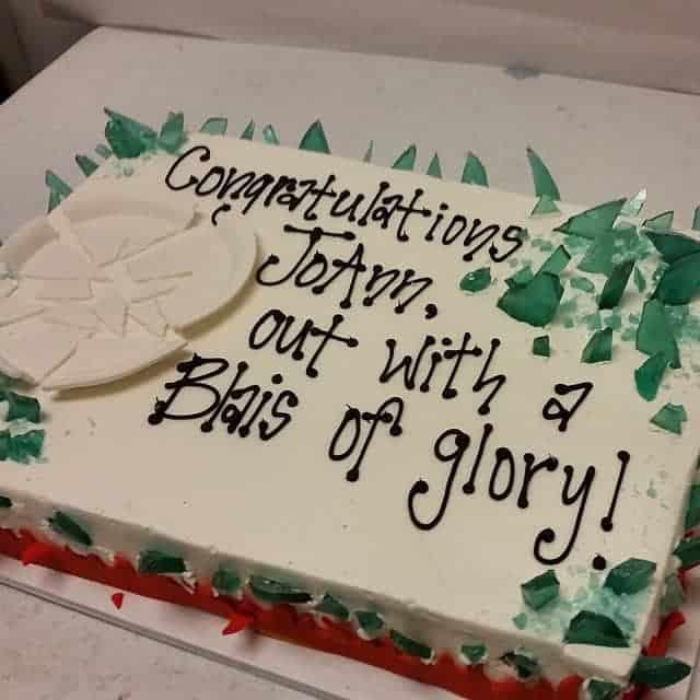 Pottery Cake Blais of Glory Retirement Cake