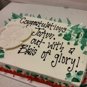 Pottery Cake Blais of Glory Retirement Cake