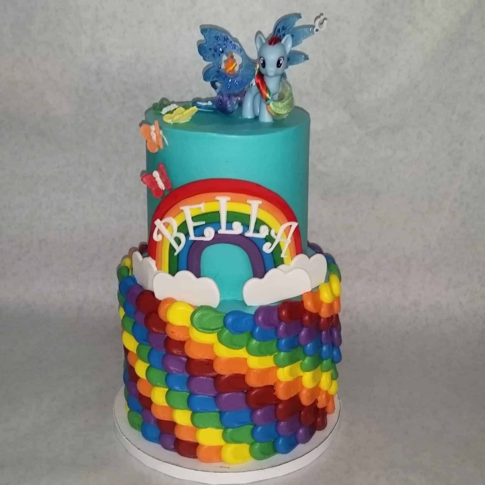 The Makery Cake Comapny Rainbows and Ponies Cake