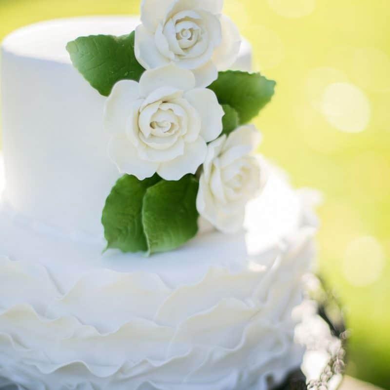 fondant Pleated wedding cake