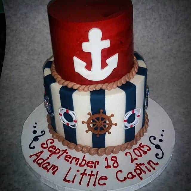 The Makery Cake Company Sailor Themed Baby Shower Cake