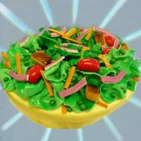 Cake that looks like a bowl of salad