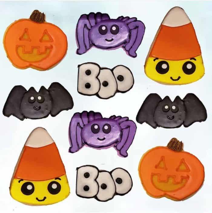 Sugar Cookies-Halloween Pumpkins, Spiders, Bats, Boos, and Candy Cornss,