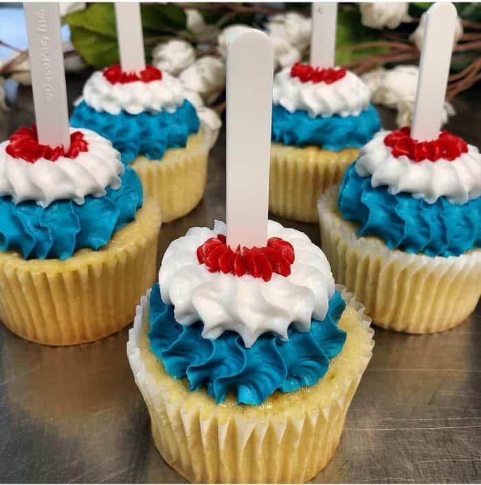Fire Cracker Cupcakes