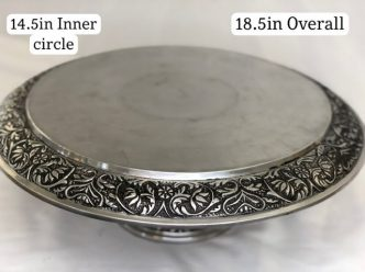 Silver Ornate Metal Elevated Stand
