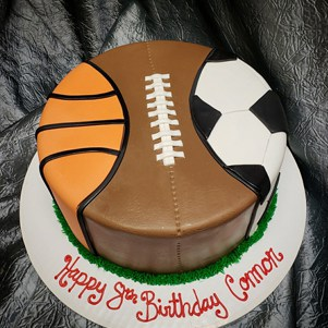 Sport Ball Birthday Cake Denver