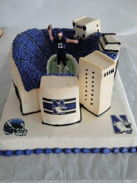 Stadium Made in Cake with Fondant Guaterback
