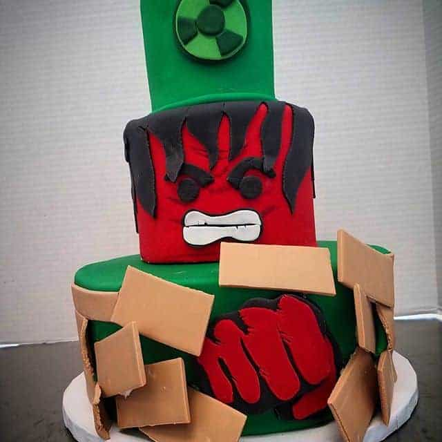 The Makery Cake Company Superhero Stacked Cake
