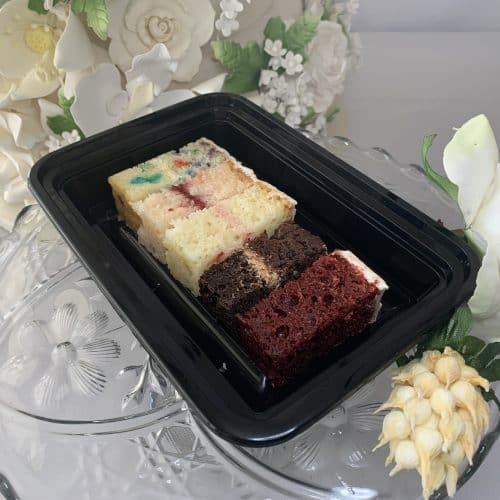 samples of cake of different flavors