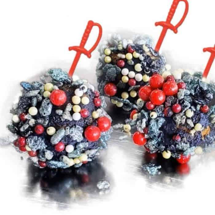 cake balls that look like Corona COVID 19